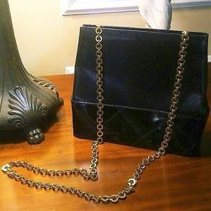 Vintage Ferragamo Chain Shoulder Bag EUC